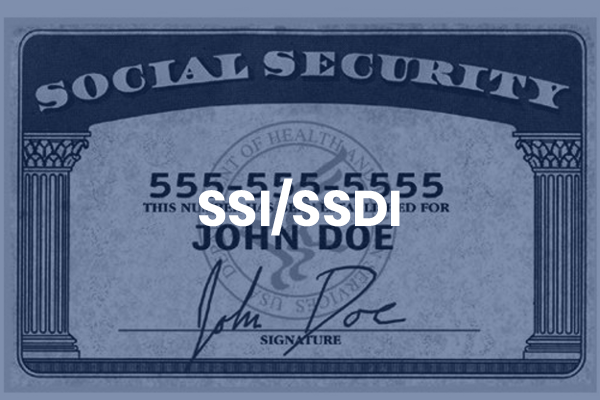 Photo of a mock social security card.